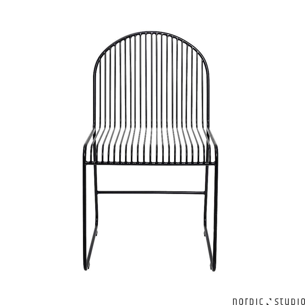 Krzesło Stołowe Metalowe Friend Czarne Bloomingville Nordic Studio