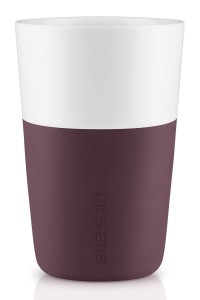 Porcelanowy kubek do latte, Dark Burgundy, 2 szt. - Eva Solo