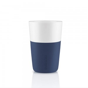 Porcelanowy kubek do latte, Navy Blue, 2 szt. - Eva Solo