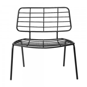 Fotel Mesh Lounge Chair, czarny - Bloomingville