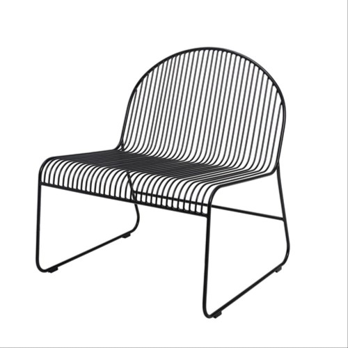 87304770 - Fotel Friend Lounge Chair, czarny - Bloomingville